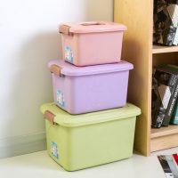 沃之沃 塑料收纳箱储物箱整理箱零食玩具手提箱子衣柜桌面收纳盒 多款可选