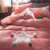 水漾 加厚冬季珊瑚绒四件套双面绒保暖法兰绒法莱绒床上用品床单笠被套 多款可选