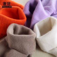 奢冠 高领羊毛衫女纯色毛衣短款套头修身打底衫秋冬简约羊毛针织衫 多色可选
