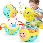 爱婴乐 婴儿玩具新生手摇铃牙胶男宝宝儿童益智幼儿女孩 多款可选